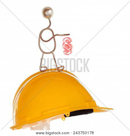 Symbolic Lawyer With Paragraph And Safety Helmet
