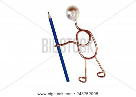 Symbolic Office Job With Man And Pen