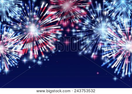 4Th Of July, American Independence Day Celebration Flyer, Banner, Template Or Invitation Design With
