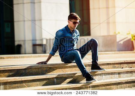 Fashion Man In Jeans
