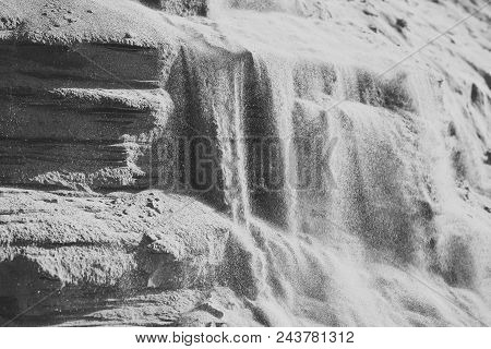 geology, sand layers. Ecology ecosystem environment nature landscape poster