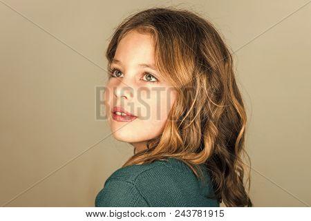 Skincare. Childhood And Happiness. Childhood Of Small Kid Girl.