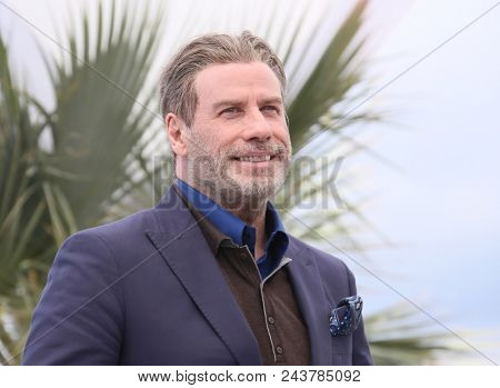 CANNES, FRANCE. May 15, 2018: John Travolta at the photocall for