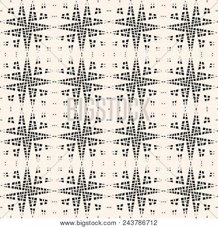 Cross Hatch Seamless Pattern. Texture Of Mesh, Net, Web, Lattice, Chaotic Grid, Scratch Lines. Simpl