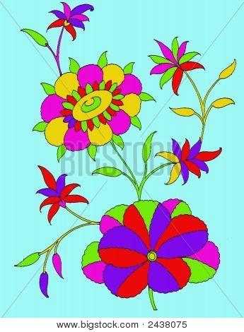Textile Motif-Flower Printing Design
