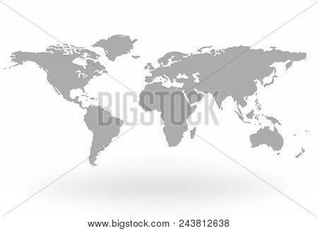 World Map Globe Isolated On White Background - Stock Vector.