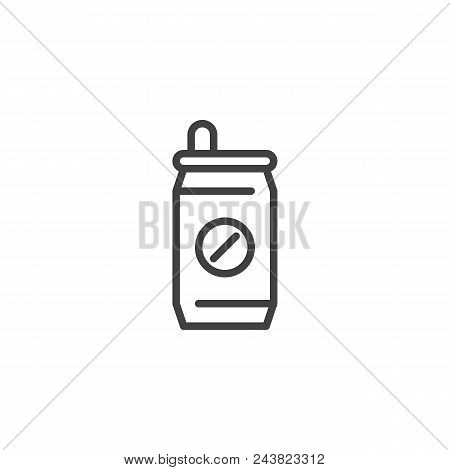 Soda Can Outline Icon. Linear Style Sign For Mobile Concept And Web Design. Soft Drink Simple Line V