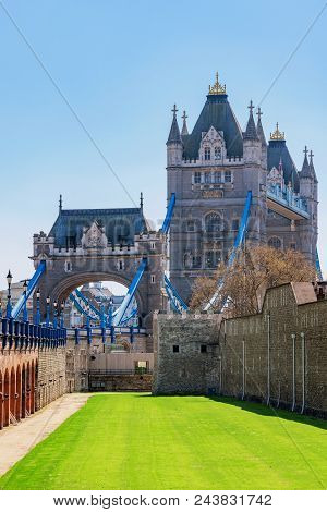 View Of The Famous Tower Bridge And Tower Of London