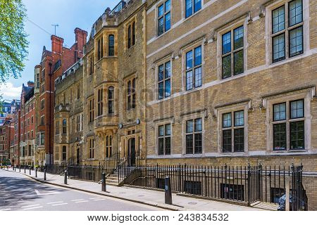 London, United Kingdom - May 04: Traditional British Architecture On Great College Street In Westmin