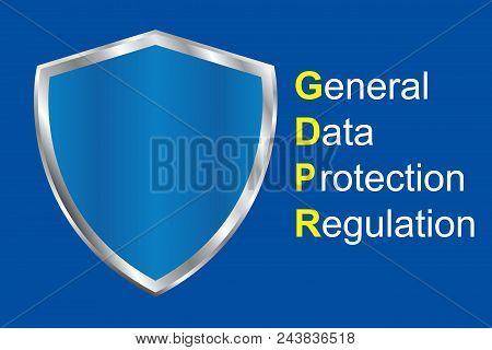 Gdpr General Data Protection Regulation. Eu Safeguard Regulations And Data Encryption Vector Concept