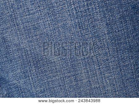 Close up blue Jeans denim texture.