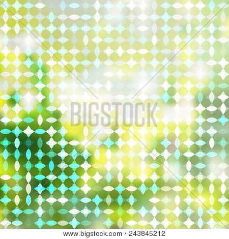 Abstract  Background On The Theme Of Sunny Summer Morning In Green And Lime Punch Trendy 2018 Color