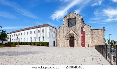 Santarem, Portugal - September 10, 2010: Sao Francisco Convent 13th century Mendicant Gothic Architecture. Franciscan Religious Order.