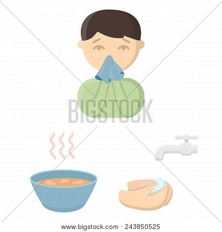 The Sick Man Cartoon Icons In Set Collection For Design.illness And Treatment Vector Symbol Stock  I