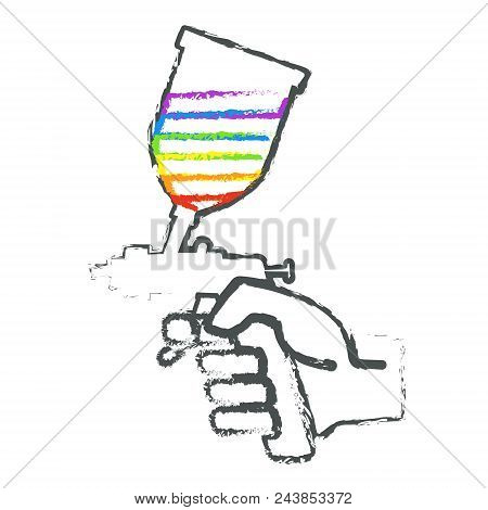 Pulverizer In Hand Abstract For Painting Vector
