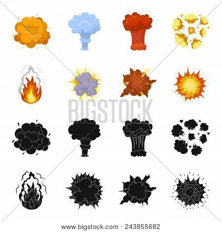 Flame, Sparks, Hydrogen Fragments, Atomic Or Gas Explosion, Thunderstorm, Solar Explosion. Explosion
