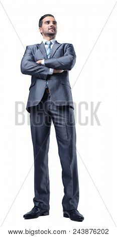 portrait of confident businessman in full-length