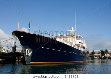 Blue Super Yacht