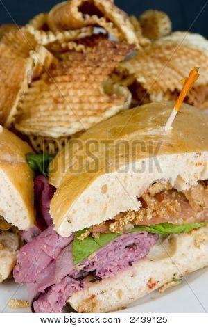Roast Beef Sandwich Close-Up