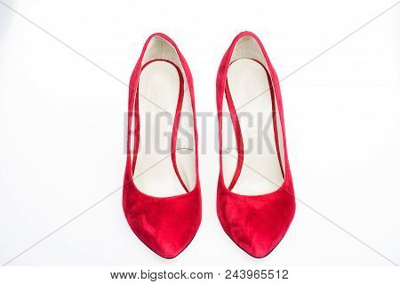 Footwear For Women With Thin High Heels. Pair Of Fashionable High Heeled Pump Shoes.elegant Stiletto