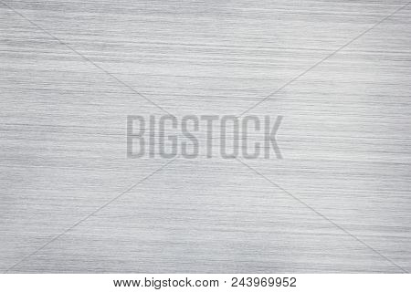 Light Gray Metal Texture. Silvery Metallic Surface. Abstract Background