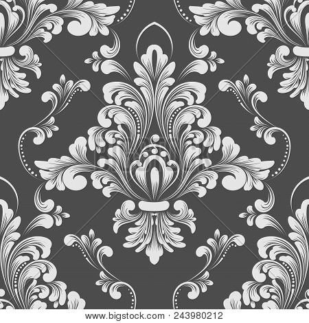 Vector Damask Seamless Pattern Element. Classical Luxury Old Fashioned Damask Ornament, Royal Victor