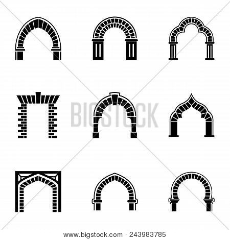 High Arch Icons Set. Simple Set Of 9 High Arch Vector Icons For Web Isolated On White Background