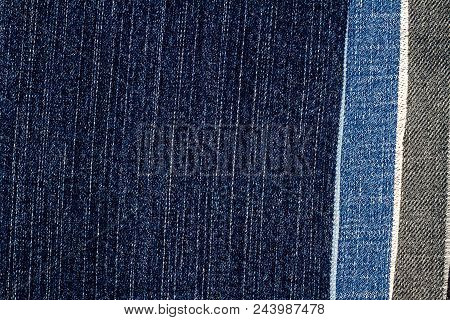 Abstract Various Torn Jeans Stripes Texture Background. Jeans Texture. Striped Jeans Background