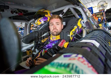 June 01, 2018 - Long Pond, Pennsylvania, USA: Ricky Stenhouse, Jr (17) hangs out in the garage during practice for the Pocono 400 at Pocono Raceway in Long Pond, Pennsylvania.