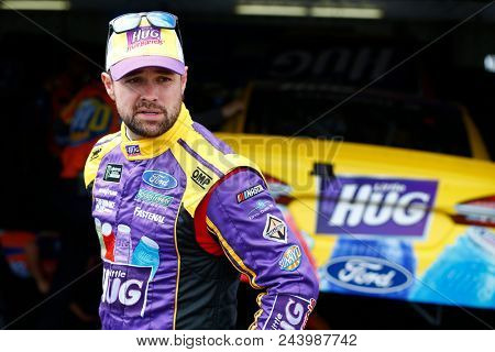 June 02, 2018 - Long Pond, Pennsylvania, USA: Ricky Stenhouse, Jr (17) prepares to take to the track for final practice for the Pocono 400 at Pocono Raceway in Long Pond, Pennsylvania.