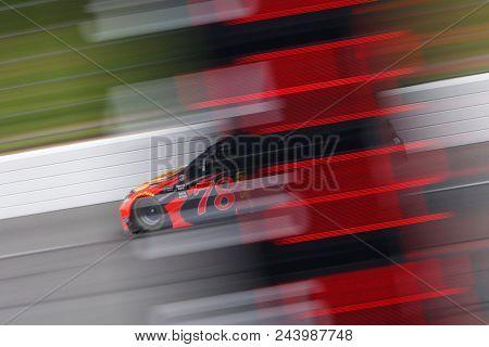 June 03, 2018 - Long Pond, Pennsylvania, USA: Martin Truex, Jr (78) brings his race car down the front stretch during the Pocono 400 at Pocono Raceway in Long Pond, Pennsylvania.
