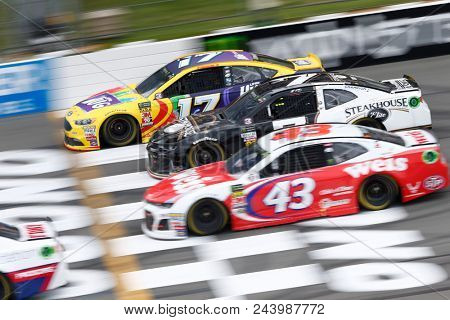 June 03, 2018 - Long Pond, Pennsylvania, USA: Ricky Stenhouse, Jr (17) battles for position during the Pocono 400 at Pocono Raceway in Long Pond, Pennsylvania.