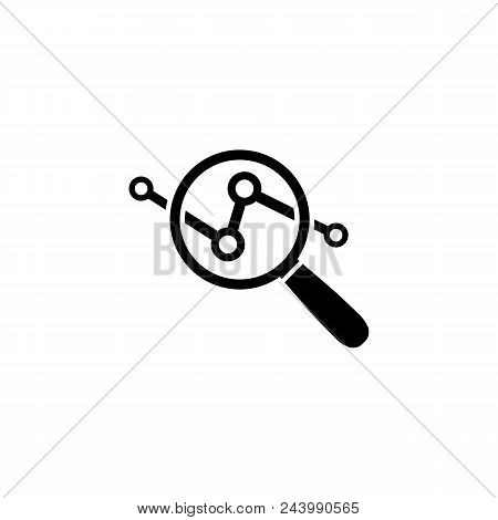 Analysis Icon In Flat Style Isolated On White Background. Data Analysis Symbol. Market Research Sign