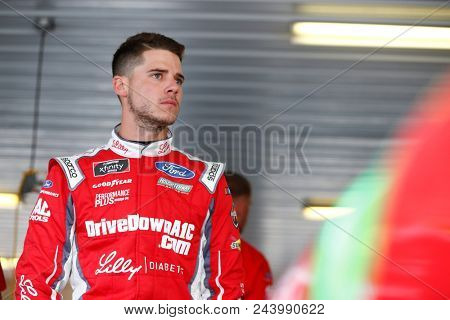 June 01, 2018 - Long Pond, Pennsylvania, USA: Ryan Reed (16) hangs out in the garage prior to practice for the Pocono Green 250 at Pocono Raceway in Long Pond, Pennsylvania.