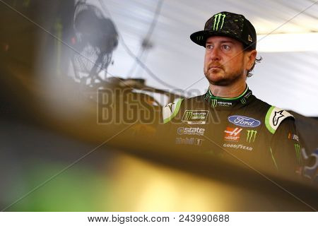 June 02, 2018 - Long Pond, Pennsylvania, USA: Kurt Busch (41) hangs out in the garage during practice for the Pocono 400 at Pocono Raceway in Long Pond, Pennsylvania.