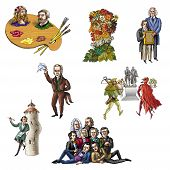 The  celebrated people of Germany (poets, writers, artist) poster