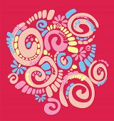 fantasy arts pattern with original spiral structure poster