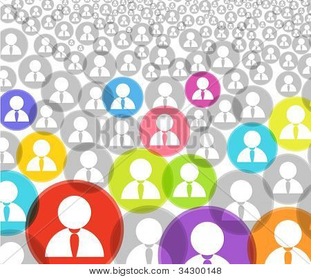 poster of Abstract crowd of social media account icons