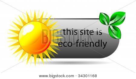 Vector Eco Friendly Website Icon