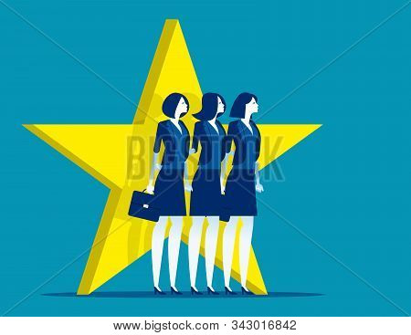 Outstanding Employee. Concept Business Vector Illustration, Colleague, Successful, Celebrity.