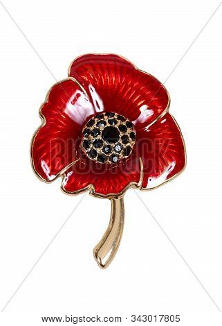 Poppy Broach Commemorating Remembrance Day In The United Kingdom