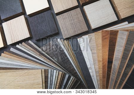 Variety Of Furniture And Flooring Material Samples For Interior Design