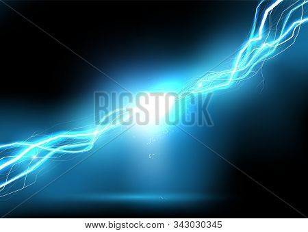 Heat Lighting. Energy Of Electric Discharge. Vector Illustration.