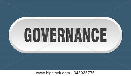 Governance Button. Governance Rounded White Sign. Governance
