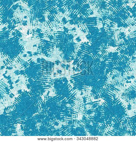 Noisy Brushed Faded Mottled Cyan Seamless Pattern