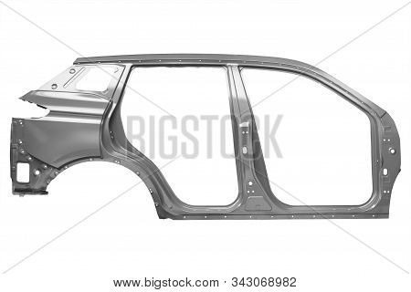Uniside Panel Of A Car Body On A White Background