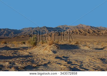 Scenic View Of Death Valley National Park At Dusk, California Usa