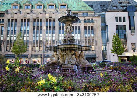 Dusseldorf/germany - September 19, 2019: The Neo-baroque