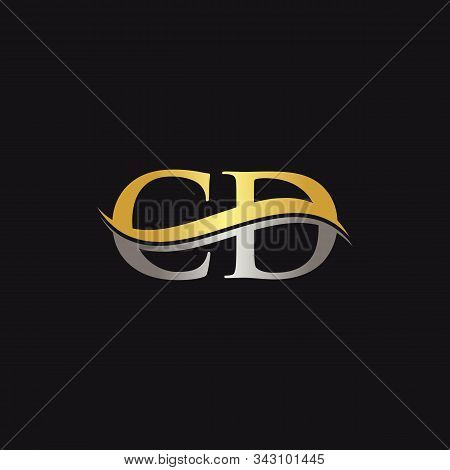 Initial Gold And Silver Letter Cd Logo Design With Black Background. Cd Logo Design.