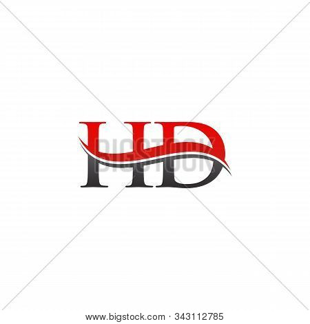 Initial Gold And Silver Letter Hd Logo Design With Black Background. Abstract Letter Hd Logo Design